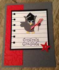 Stampin Up  Card Kit - Graduation Owl Card