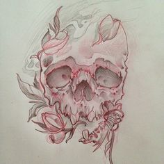 Image result for skull with tophat neo traditional