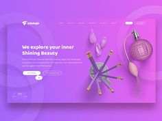 Free Beauty Header Design Concept designed by Md Sakib. Connect with them on Dribbble; the global community for designers and creative professionals. Web Layout, Layout Design, Header Design, Ui Design Inspiration, Design Ideas, Wordpress Theme Design, Material Design, Page Design, Creations