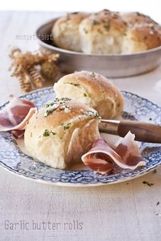 Pagnotte di pane pizza all'aglio e burro
