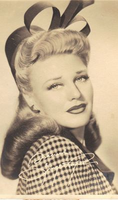 Ginger Rogers Once Upon a Honeymoon, 1942 ~