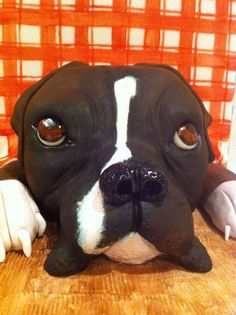 Pickle the Boxer Dog - by IceMaidenCakes @ CakesDecor.com - cake decorating website