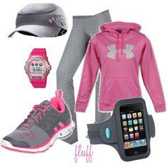 pink shoes/hoodie