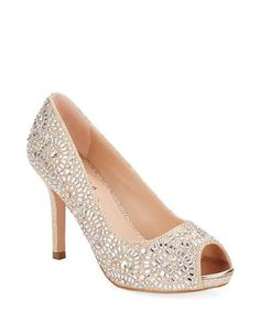 Paula 2 Peep-Toe Pumps | Crystalline embellishments add twinkle to these flashy pumps.