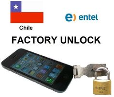 iPhone Unlock Chile Entel iPhone 3G,3GS,4,4S