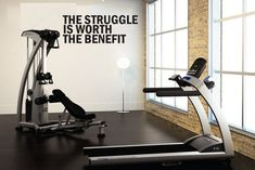 """The Struggle Is Worth The Benefit, Wall Decor Vinyl Decal Gym Workout Motivation Quote 18""""X40"""", item#85"""