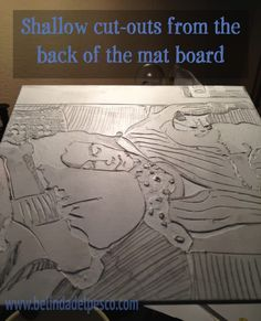 Cutting and peeling a Mat Board Collagraph Print - Stackable Naps - with step by step instructions - belindadelpesco Collagraph Printmaking, Printmaking Ideas, 8th Grade Art, Online Art Classes, Gelli Plate Printing, Creative Artwork, Chalk Pastels, Illuminated Letters, Linocut Prints