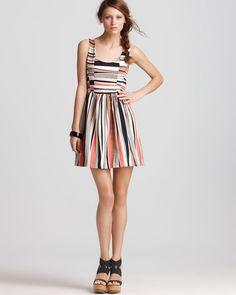 1ec58020911e Aqua Dress - Printed Textured Stripe - Dresses - Apparel - Women s -  Bloomingdale s ( 50