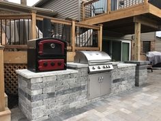 Brick pavers grill station