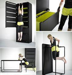 Space Saving Furniture: Fitness Equipment & Storage Ideas by Lucie Koldov