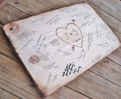 Farmhouse wedding decor, Rustic reception decor, guest book, personalized