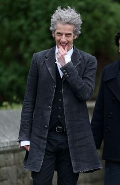 Clearer image of Peter's rather frayed new coat.