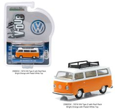 Diecast Auto World - Greenlight 1/64 Scale VEE DUB 2 1974 Volkswagen VW Type 2 Roof Rack Orange 29820, $5.99 (http://stores.diecastautoworld.com/products/greenlight-1-64-scale-vee-dub-2-1974-volkswagen-vw-type-2-roof-rack-orange-29820.html/)
