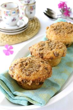Heath Bar Chocolate & Toffee Coffee Cake Muffins Recipe...pretty darn irresistible!  | cookincanuck.com #dessert