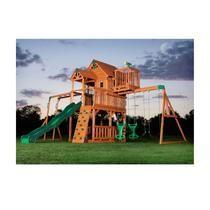 Leisure Time Products BIG 9 KID Skyfort  Cedar Wood Fort Playground Play Swing Set & slide