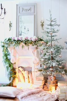 The Great Tinsel Debate- and my little French Country Christmas tree  -          Do you remember the story about the first Christmas I spent with my now husband   and the great tinsel debate?