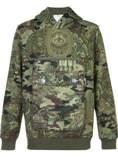 GIVENCHY Camouflage Hooded Sweatshirt. #givenchy #cloth #sweatshirt