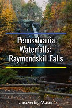 Raymondskill Falls, located in the Delaware Water Gap National Recreation Area, is Pennsylvania's largest waterfall. Weekend Trips, Day Trips, New England Fall Foliage, Delaware Water Gap, Waterfall Photo, Largest Waterfall, Dubai Skyscraper, Lehigh Valley, Day Hike