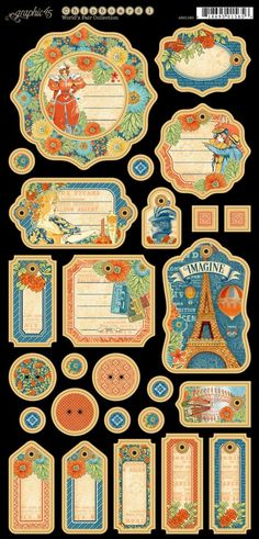 World's Fair Decorative Chipboard! This new collection will be in stores in late August #graphic45 #sneakpeeks