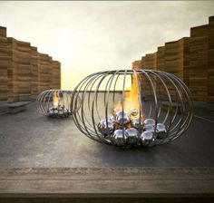 Luxury Fire Sculptures: Ultra Modern Fireplaces by Elena Colombo