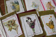handgefertigte Karten, Blumenmädchen Naturpapier , Papiergarten,