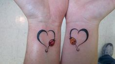 Mother Daughter Tattoo Hearts Lady Bugs