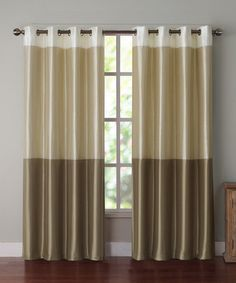 Natural Park Slope Curtain Panel by Victoria Classics #zulily #zulilyfinds