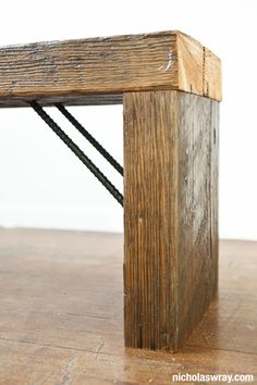Wood table. Well since I already have all the materials at the farm....