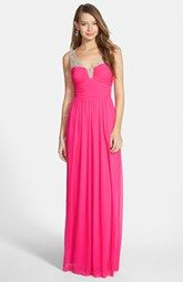 Way-In 'Marie' Embellished Strap Gown (Juniors)