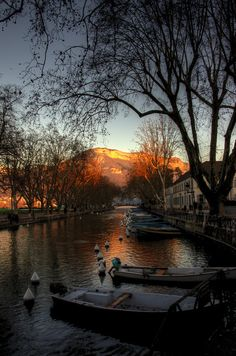 Sunset in Annecy, France