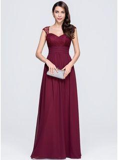 A-Line/Princess Sweetheart Floor-Length Chiffon Evening Dress With Ruffle (017074676) - JJsHouse
