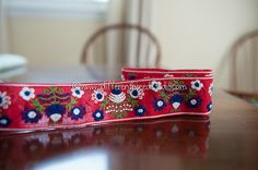 3 yards Alpine Floral  Vintage Fabric by thoroughbredthreads