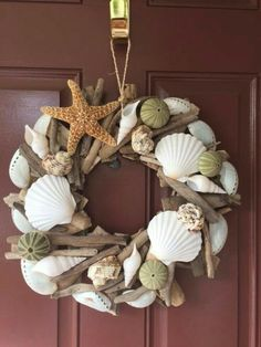 Beach Decor Seashell and Starfish Driftwood Wreath by LiveCoastal decor christmas Seashell & Starfish Driftwood Wreath - Urchin Wreath - Seashell Wreath - Coastal Home Decor - Nautical- Christmas Wreath - Free US Shipping Driftwood Wreath, Seashell Wreath, Driftwood Crafts, Seashell Crown, Burlap Wreath, Seashell Projects, Seashell Crafts, Beach Crafts, Diy Projects