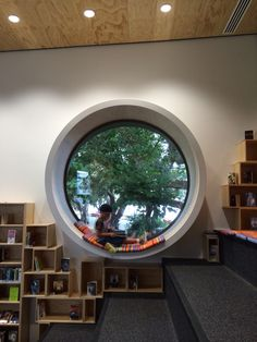 Devonport library / circle window / #roundwindow #readingnook #modernlibrary Home Library Rooms, House Rooms, Scandinavian Style Home, House Elevation, Design Moderne, Large Homes, House Layouts, Dream Decor, New Homes