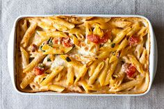 Penne with Tomato, Cream & Five Cheeses..exactly as good as it sounds. But not a great re-heat.