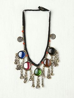 Vintage Glass Statement Necklace