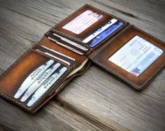 03 Coin Pocket Wallet for men. Leather wallet with by Odorizzi