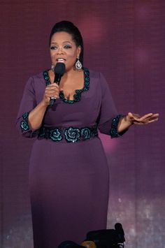 Oprah famously donned a design by L Wren Scott to her farewell spectacular in 2011.