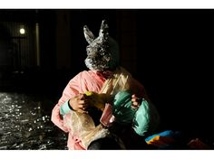 video still of: Leyla Rodriguez and Cristian Straub, isle of fox, the face, video, 3:54 min, 2010| photo: Leyla Rodriguez and Cristian Straub