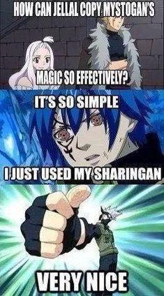 Funny Anime Memes - Cross over Memes! # 1 ( Fairy tail / Naruto) - Wattpad