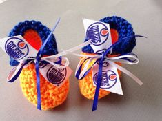 hocley fans... edmonton oilers baby booties  2 from  14.95 cfd3fc54e