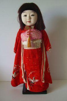 Ichimatsu doll, vintage Japanese ningyo