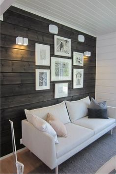 Scandinavian Living Room Design Ideas that Will Inspired You Family Room Decorating, Scandinavian Living, Ship Lap Walls, Wooden Walls, My New Room, Bedroom Wall, Decoration, Living Room Designs, Palette