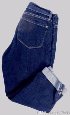 NYDJ Cropped Capri Womens Dark Wash Jeans Size 4 Excellent Condition