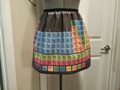 Periodic Table Apron - chemistry cooking!