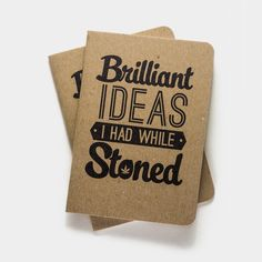 lol  Brilliant Ideas I had While Stoned Notebooks - 2pk | Shop Cool Material