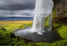 Seljalandsfoss is a spectacular waterfall on the ring road in southern Iceland between Selfoss and Skogafoss - photo by John_Freeman