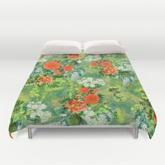 Tropical Garden Duvet Cover #floral #tropical #home #art
