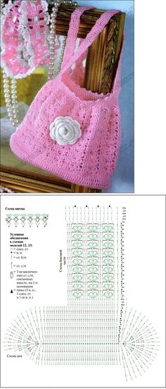 Crochet bag chart,  Really like this one! <3