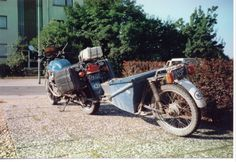 Trailer to tow behind overland bike. - Horizons Unlimited - The HUBB Little Trailer, Expedition Trailer, Motorcycle Trailer, Bike, Motorbikes, Do It Yourself Crafts, Bicycle, Bike Trailers, Bicycles